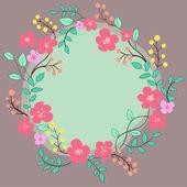 Cute handdrawn wreath — Stock Vector