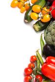 Zelenina na bílém pozadí — Stock fotografie