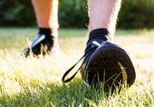 Feet of runner — Stock Photo
