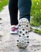 Feet of runner — Stock fotografie