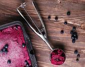 Blueberries ice-cream — Stock Photo