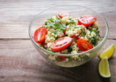 Tabbouleh with couscous and parsley — Stock Photo