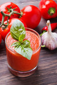Delicious refreshing gazpacho — Stock Photo