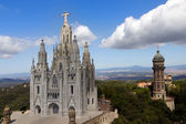 Temple de Sagrat Cor, Tibidabo, Barcelona — Stock Photo