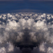 Dramatic clouds in sky background — Stock Photo