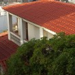 Stock Photo: House red roofing