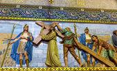 Mozaika chrystusa — Zdjęcie stockowe