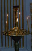 Ljusen på ljusstakar — Stockfoto