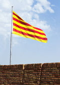 Flag catalan — Stock Photo