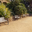 Bench in the park Guell — Stock Photo
