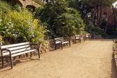 Скамейка в парке Гуэль — Стоковое фото
