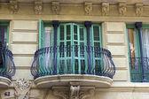 Balcony windows — Stock Photo