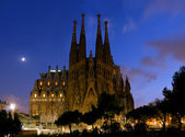 Night Sagrada Familia — Stock Photo