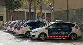 Polisen i barcelona — Stockfoto
