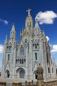 Tempel van de basiliek van het heilig hart — Stockfoto