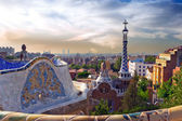 Antonio Gaudi in Park Guell, Barcelona — Stock Photo