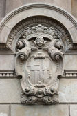 Detailed old heraldry of Barcelona — Stock Photo