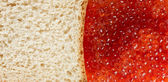 Bread and red caviare — Stock Photo