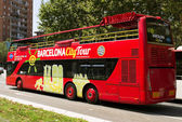 Barcelona city tour bus — Stockfoto