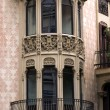 Architecture facade of Barcelona — Stock Photo