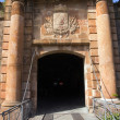 Stock Photo: Gates Montjuic castle