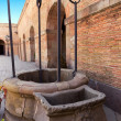 Stock Photo: Well Montjuic castle