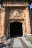 Gates Montjuic castle — Stock Photo