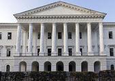 White house of the pillar — Stock Photo