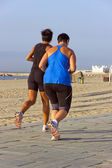 Running beach — Stock Photo