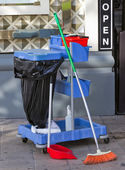 Cleaning the streets — Stock Photo