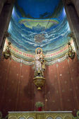 Mosaïque de jésus christ dans le temple du sacré-coeur, barcelone, — Photo