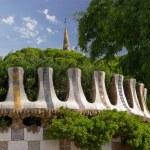 Park Guell. Barcelona landmark, Spain. — Stock Photo
