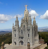 Temple de Sagrat Cor, Tibidabo. Barcelona landmark, Spain. — Stock Photo