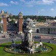 Placa De Espanya. Barcelona landmark, Spain. — Stock Photo