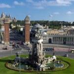 Placa De Espanya. Barcelona landmark, Spain. — Stock Photo