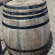 Old wooden barrel - Stock Photo