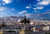 Paysage urbain. historique de barcelone, espagne. — Photo