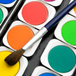 Stock Photo: Paints watercolors set