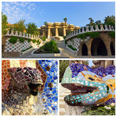 Park Guell in Barcelona set — Stock Photo