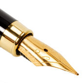 Classic gold fountain pen — Stock Photo