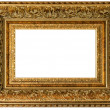 Golden vintage frame empty — Stock Photo