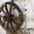 Old wheel cart — Stock Photo