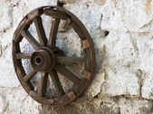 Old wheel cart — Stock Photo