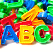 Abc colorful letters — Stock Photo