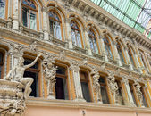 Sculptures on the balcony of Odessa — Stock Photo