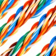 Bundle of colorful electrical cables set — Stock Photo