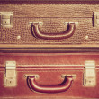 Stock Photo: Vintage suitcases