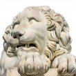 Stock Photo: Lion marble sculpture in Vorontsov Palace, Crimea, Ukraine.