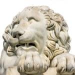 Lion marble sculpture in Vorontsov Palace, Crimea, Ukraine. — Stock Photo