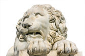 Lion marble sculpture in Vorontsov Palace, Crimea, Ukraine. — Stock Photo